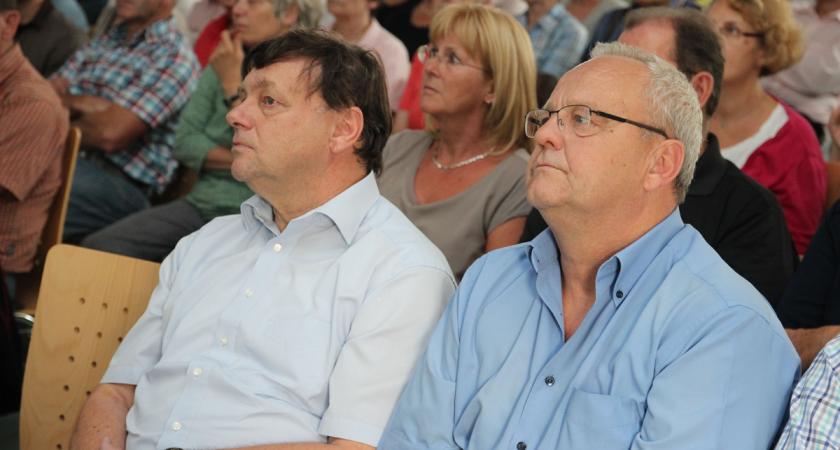 Bürgermeister Hans Lorenz und Fachbereichsleiter III, Thomas Schiller